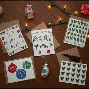 💌 Christmas Notecard Set with Envelopes